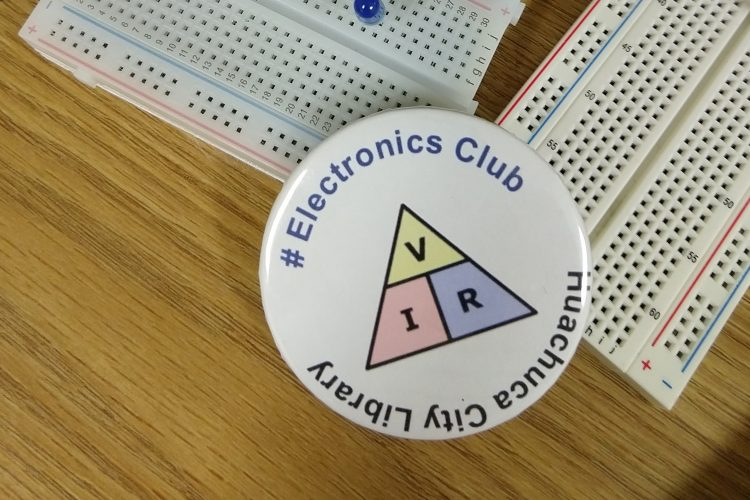Electronics Club buttons